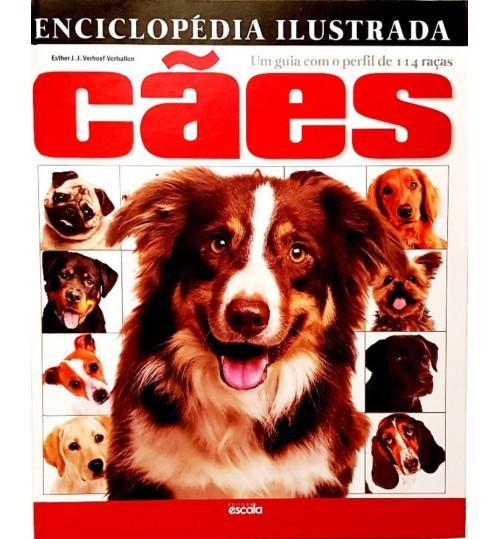 Livro Enciclopédia Ilustrada Cães Um Guia com o Perfil de 114 Raças