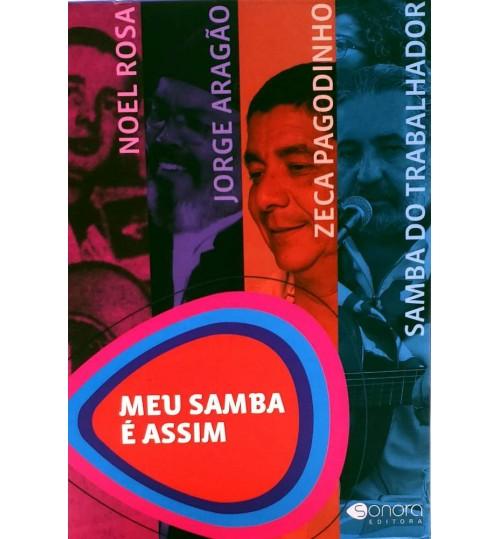 Box Meu Samba é Assim - 4 Livros: Zeca Pagodinho, Noel Rosa, Jorge Aragão e Samba do Trabalhador