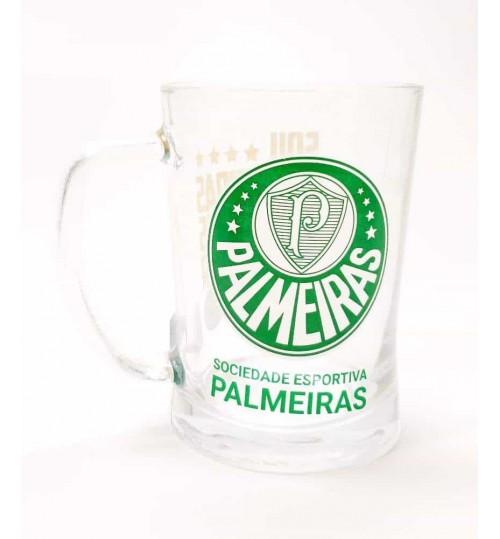 Caneca de Vidro Palmeiras 660 ml