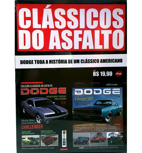 Kit Revistas Clássicos do Asfalto Dodge
