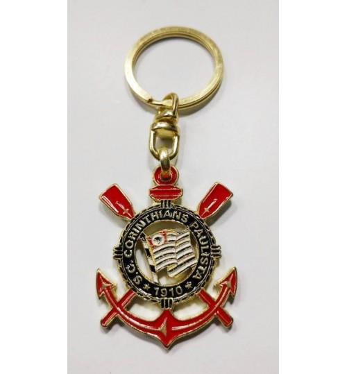 Chaveiro Histórico Escudo Corinthians Atual Dourado