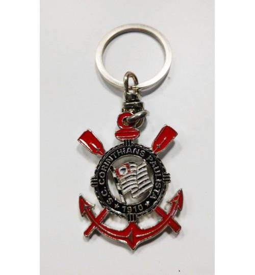 Chaveiro Histórico Escudo Corinthians Atual Prateado