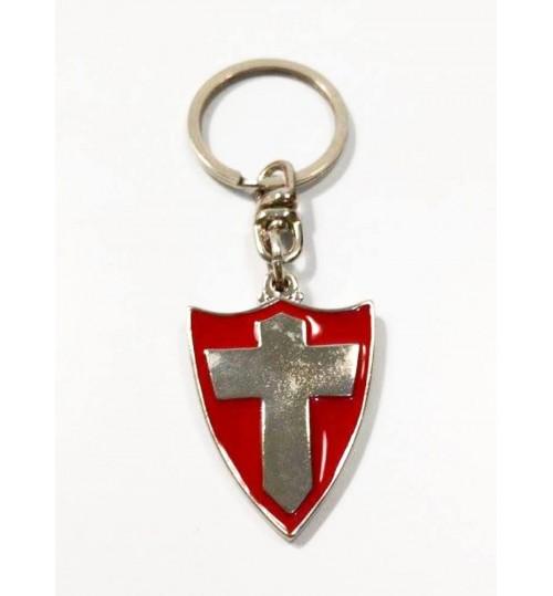 Chaveiro Histórico Escudo Cruz de Savoia e Palestra Itália, Palmeiras 1916 e 1917 Prateado