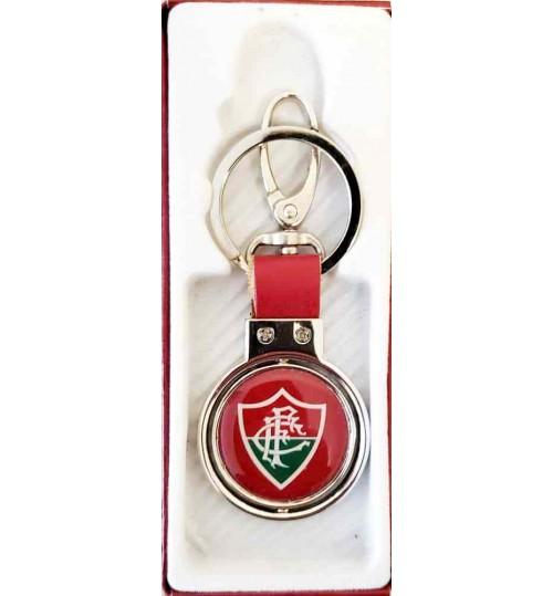 Chaveiro Histórico Rotativo Escudo Fluminense Atual e 1902 Prateado