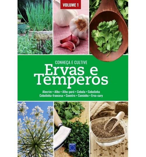 Livro Conheça e Cultive: Ervas e Temperos - Volume 1