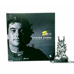 Kit Ayrton Senna - Estátua A Torcida + Livro Ayrton Senna Um Herói Moldado de Alma, Coração e Aço!