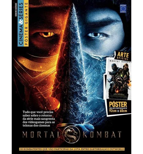 Revista Superpôster Bookzine Cinema e Séries - Mortal Kombat