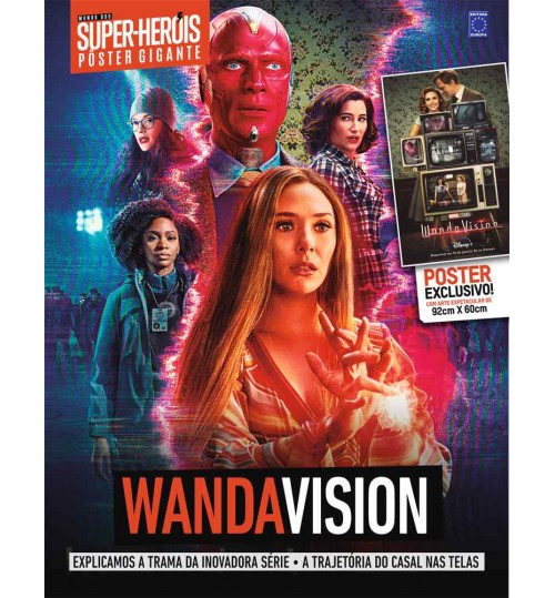 Revista Superpôster Bookzine Mundo dos Super-Heróis - WandaVision
