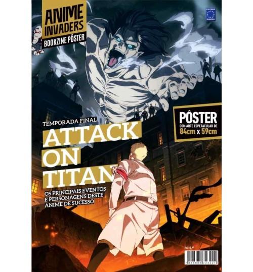 Revista Superpôster Bookzine Ilustrado Anime Invaders - Temporada Final de Attack on Titan