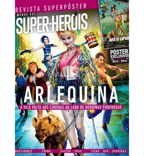 Revista Superpôster Mundo dos Super Heróis - Arlequina
