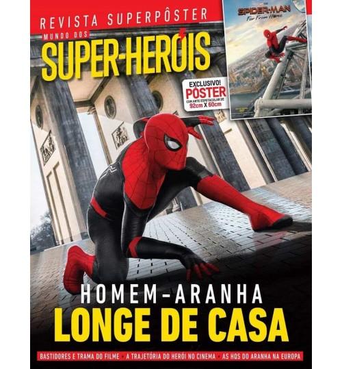 Revista Superpôster Mundo dos Super Heróis - Homem Aranha Longe de Casa