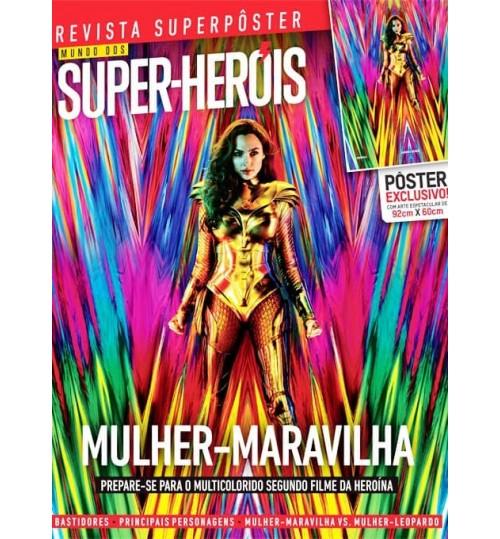 Revista Superpôster Mundo dos Super-Heróis - Mulher-Maravilha