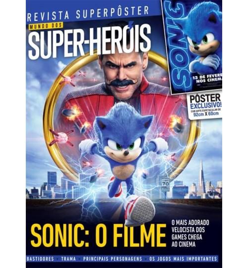 Revista Superpôster Mundo dos Super-Heróis - Sonic: O Filme