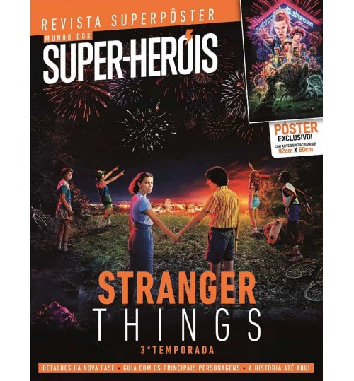 Revista Superpôster Mundo dos Super-Heróis - Stranger Things