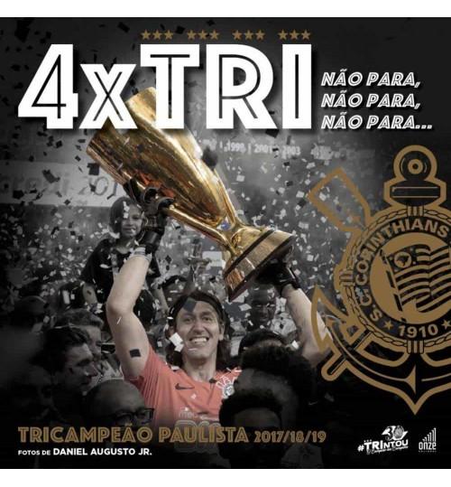 Livro 4x Tri - Corinthians Tricampeão Paulista 2017, 2018, 2019