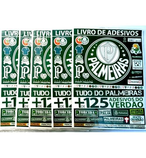 Kit Livro de Adesivos Palmeiras com mais de 125 Adesivos - 5 Unidades