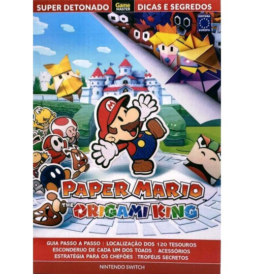 Livro Super Detonado Dicas e Segredos - Paper Mario The Origami King