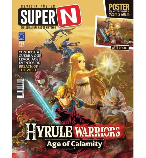 Revista Pôster Super N - Hyrule Warriors Age Of Calamity