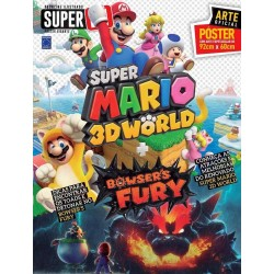 Revista Superpôster Bookzine Ilustrado Super N - Super Mário 3D World e Bowsers Fury