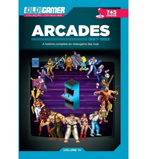 Livro Dossiê OLD!Gamer Volume 14: Arcades Parte 2 - 1987 - 1993