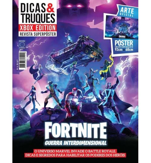 Revista Superpôster Dicas & Truques Xbox Edition - Fortnite Guerra Interdimensional