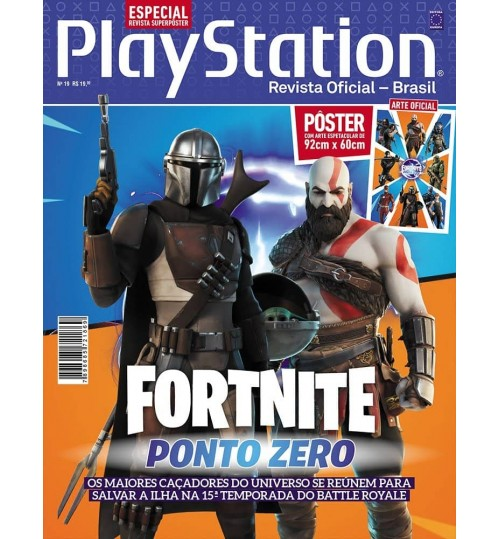 Revista Superpôster PlayStation - Fortnite Ponto Zero