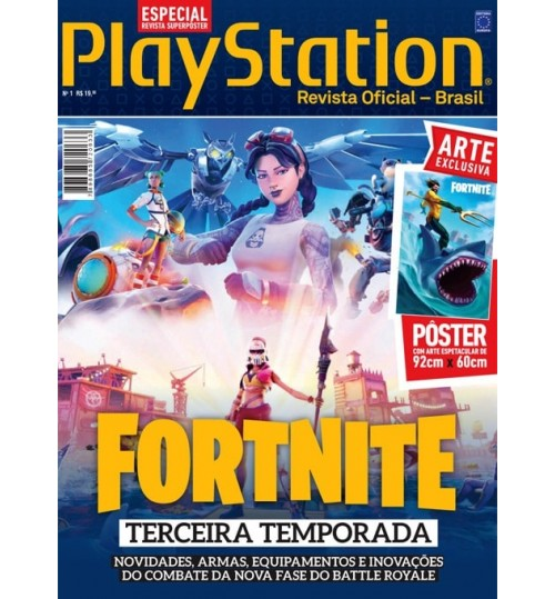 Revista Superpôster PlayStation - Fortnite Terceira Temporada