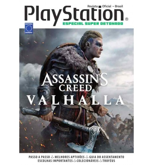 Livro Especial Super Detonado PlayStation - Assassins Creed Valhalla