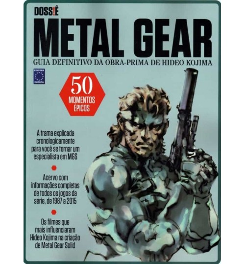 Revista Dossiê Metal Gear - Guia Definitivo da Obra Prima de Hideo Kojima