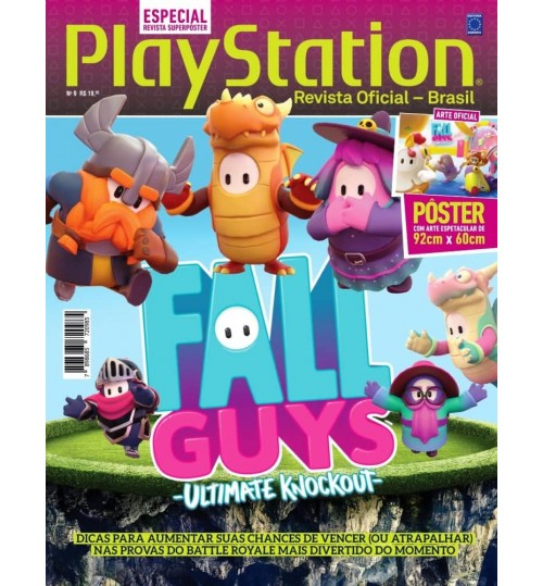 Revista Superpôster PlayStation - Fall Guys Ultimate Knockout