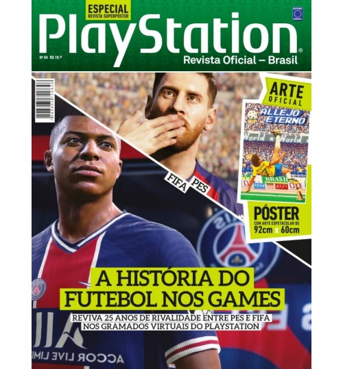 Revista Superpôster PlayStation - Futebol nos Games PES x FIFA