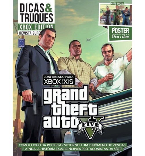 Revista Superpôster Dicas & Truques Xbox Edition - Grand Theft Auto V