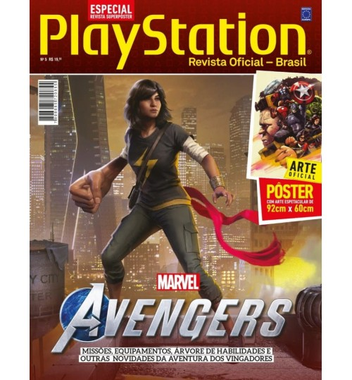 Revista Superpôster PlayStation - Marvel Avengers