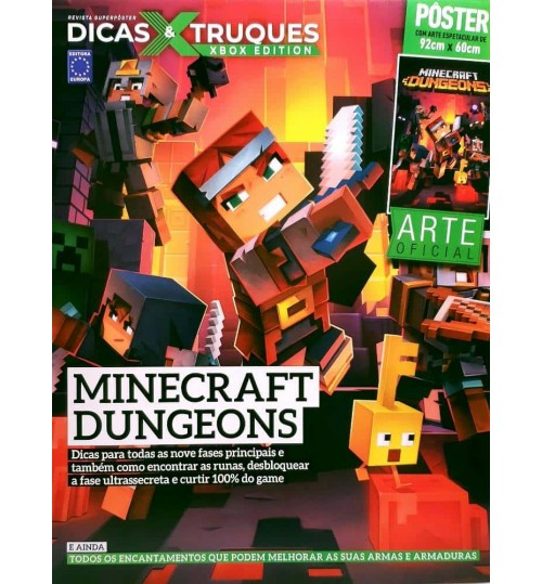 Revista Superpôster Dicas & Truques Xbox Edition - Minecraft Dungeons