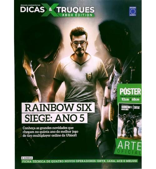 Revista Superpôster Dicas & Truques Xbox Edition - Rainbow Six Siege: Ano 5