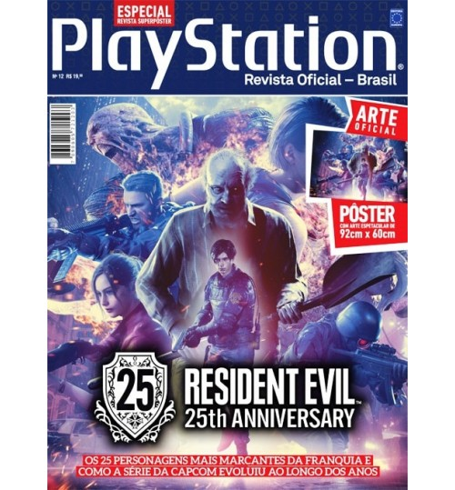 Revista Superpôster PlayStation - Resident Evil 25th Anniversary