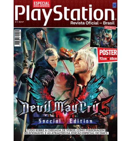 Revista Superpôster PlayStation - Devil May Cry 5