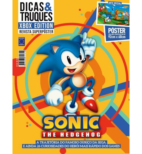 Revista Superpôster Dicas & Truques Xbox Edition - Sonic The Hedgehog