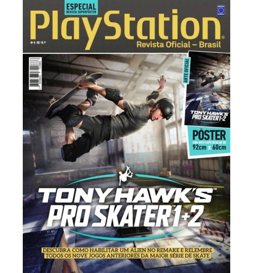 Revista Superpôster PlayStation - Tony Hawk's Pro Skater 1+2