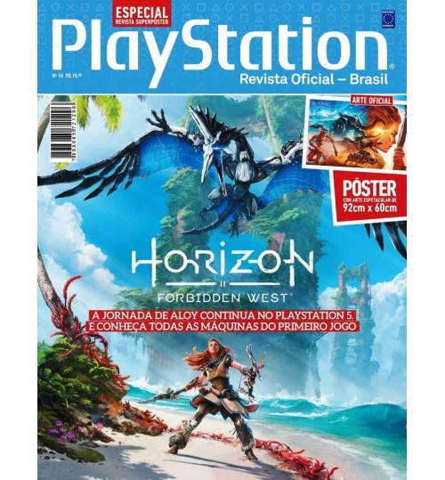 Revista Superpôster PlayStation - Horizon Forbidden West