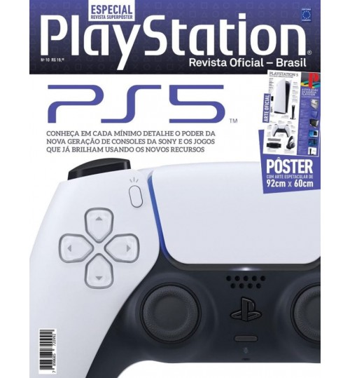 Revista Superpôster PlayStation - Playstation 5 - PS5