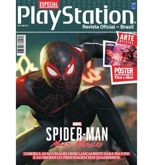 Revista Superpôster PlayStation - Spider-Man Miles Morales