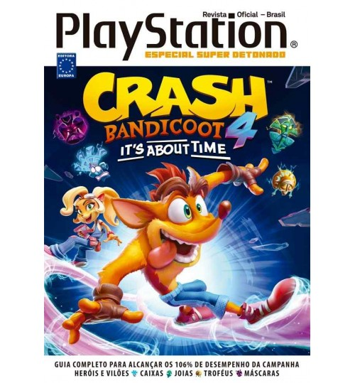 Livro Especial Super Detonado PlayStation - Crash Bandicoot 4