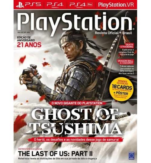Revista Playstation Edição de aniversário 21 anos - Ghost of Tsushima N° 265