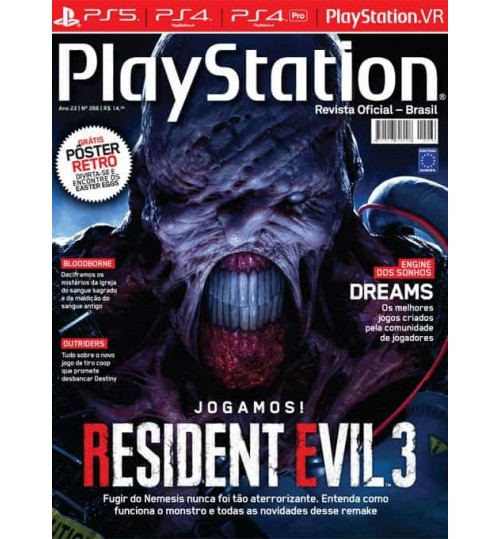 Revista Playstation Jogamos! Resident Evil 3 N° 266
