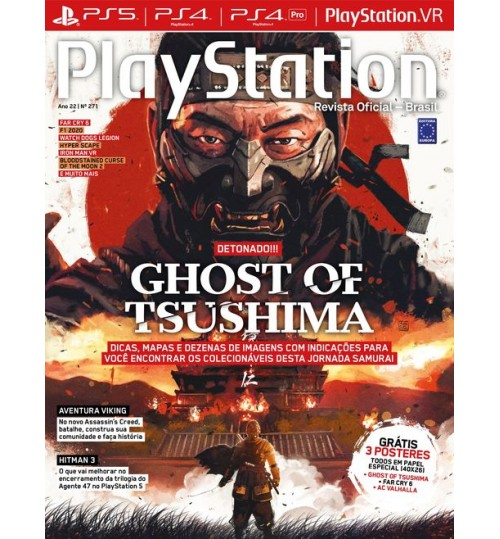 Revista Playstation Detonado Ghost Of Tsushima N° 271