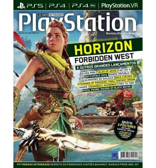 Revista Playstation Horizon Forbidden West e Outros Grandes Lançamentos N° 282
