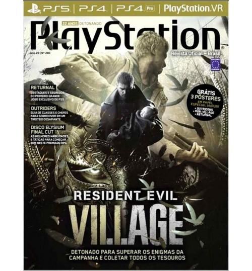 Revista Playstation Resident Evil Village Detonado N° 280