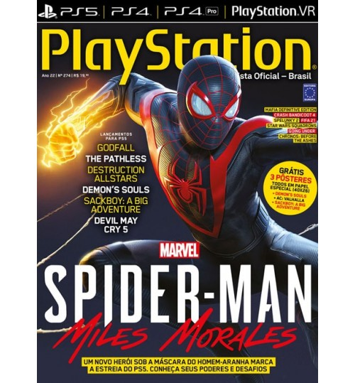 Revista Playstation Spider-Man Miles Morales N° 274
