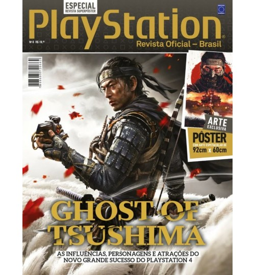 Revista Superpôster PlayStation - Ghost of Tsushima